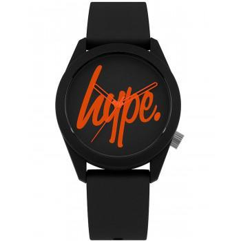 HYPE Unisex - HYU001BO,  Black case with Black Rubber Strap