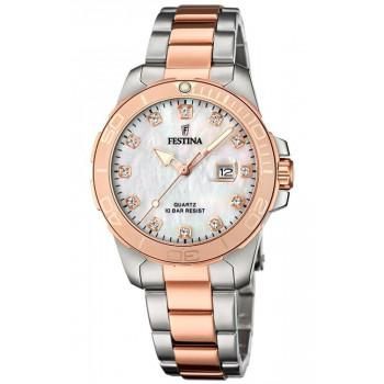 FESTINA  Crystals Gift Set -  F20505/1, Silver case with Stainless Steel Bracelet