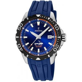 FESTINA Diver Mens - F20462/1, Silver case with Blue Rubber Strap