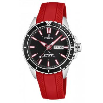 FESTINA Divers - F20378/6, Silver case with Red  Rubber Strap