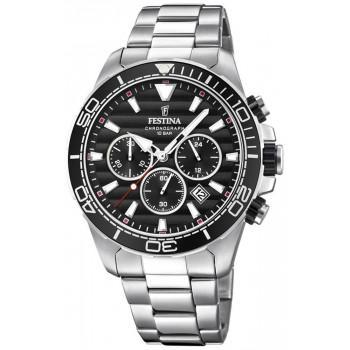 FESTINA Men's Chronograph  - F20361/4 , Silver case with Stainless Steel Bracelet
