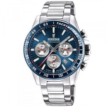 FESTINA Men's Chronograph - F20560/2 , Silver case with Stainless Steel Bracelet