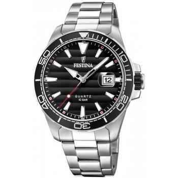 FESTINA Men's - F20360/2 , Silver case with Stainless Steel Bracelet