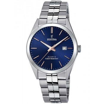 FESTINA Men's - F20437/B, Silver case with Stainless Steel Bracelet