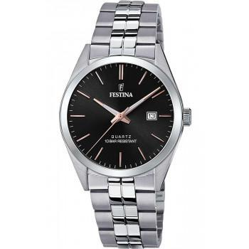 FESTINA Men's - F20437/C, Silver case with Stainless Steel Bracelet