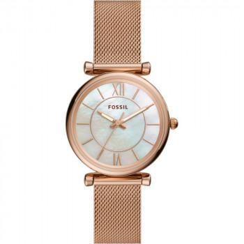 FOSSIL Carlie - ES4918  Rose Gold case with Stainless Steel Bracelet