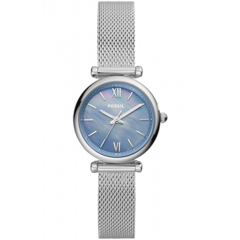 FOSSIL Carlie Mini - ES5083  Silver case with Stainless Steel Bracelet