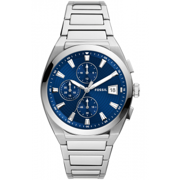 Fossil Everett Chronograph - FS5795, Silver case with Stainless Steel Bracelet