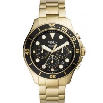 Fossil FB-03 Chronograph - FS5727, Gold case with Stainless Steel Bracelet