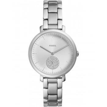 FOSSIL Jacqueline Crystals - ES4437  Silver case with Stainless Steel Bracelet