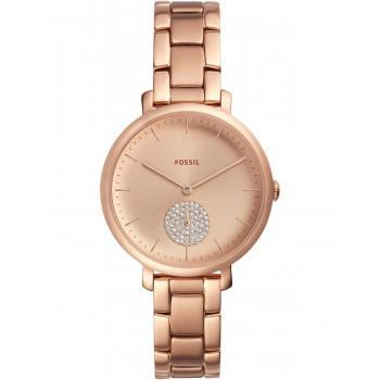 FOSSIL Jacqueline Crystals - ES4438  Rose Gold case with Stainless Steel Bracelet