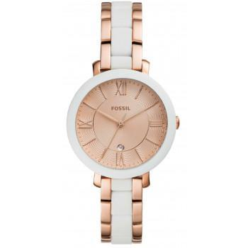 FOSSIL Jacqueline  - ES4588  Rose Gold case with Stainless Steel Bracelet