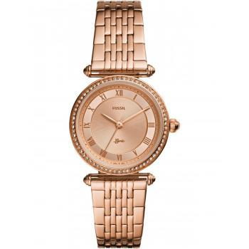 FOSSIL Lyric Crystals - ES4711  Rose Gold case with Stainless Steel Bracelet
