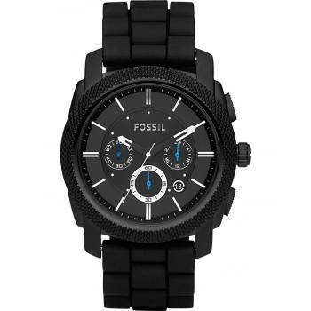Fossil Machine Chronograph - FS4487IE, Black case with Black Rubber Strap