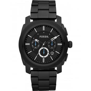 FOSSIL Machine Chronograph - FS4552IE  Black case  with Stainless Steel Bracelet