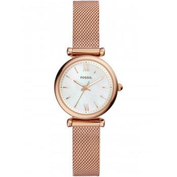 FOSSIL Mini Carlie - ES4433,  Rose Gold case with Stainless Steel Bracelet
