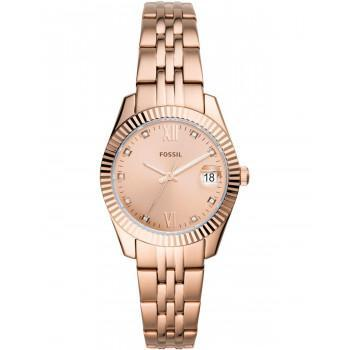 FOSSIL Scarlette Mini Crystals - ES4898   Rose Gold case with Stainless Steel Bracelet
