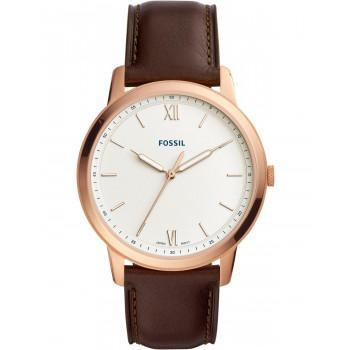 Fossil The Minimalist - FS5463, Rose Gold case with Brown Leather Strap