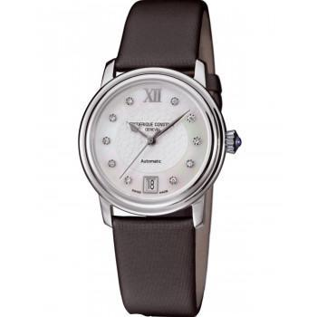 FREDERIQUE CONSTANT Automatic Heart Beat Diamonds - FC-303WHD2P6, Silver case with Brown Leather Strap