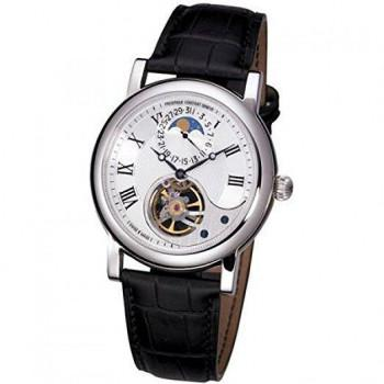 FREDERIQUE CONSTANT Automatic Heart Beat - FC-915MC4H6, Silver case with Black Leather Strap