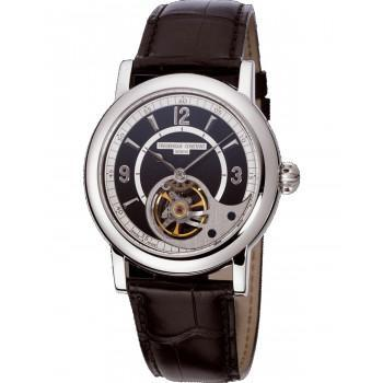 FREDERIQUE CONSTANT Automatic Heart Beat - FC-930ABS4H6, Silver case with Brown Leather Strap