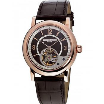 FREDERIQUE CONSTANT Automatic Heart Beat - FC-930ABS4H9, Rose Gold case with Brown Leather Strap