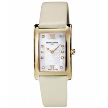 FREDERIQUE CONSTANT Carree Diamond - FC-200WHDC25, Gold case with Beige Leather Strap