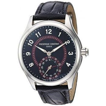 FREDERIQUE CONSTANT Horological  Smartwatch  - FC-285BBR5B6,  Silver case with Black Leather Strap