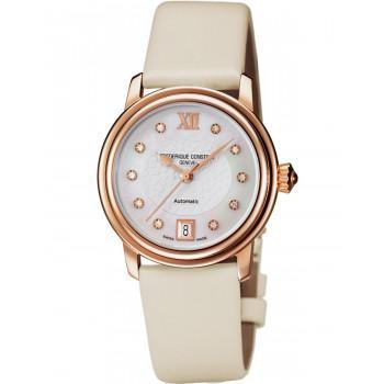 FREDERIQUE CONSTANT Heart Beat Diamonds - FC-303WHD2P4, Rose Gold case with Beige Leather Strap