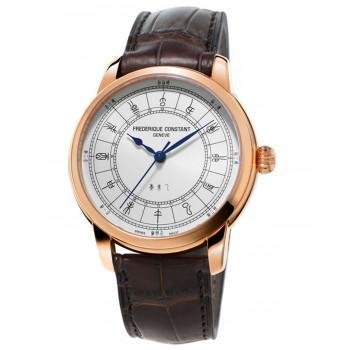 FREDERIQUE CONSTANT Manufacture Zodiac 24H - FC-724CC4H4, Rose Gold case with Brown Leather Strap