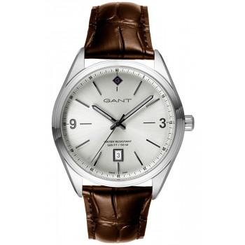 GANT Crestwood - G141001,  Silver case with Brown Leather Strap