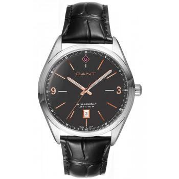 GANT Crestwood - G141002,  Silver case with Black Leather Strap