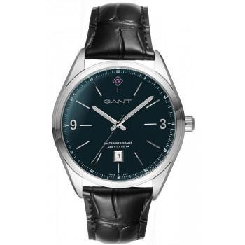 GANT Crestwood - G141003,  Silver case with Black Leather Strap
