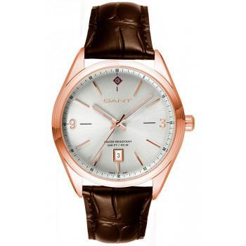 GANT Crestwood - G141005,  Rose Gold case with Brown Leather Strap