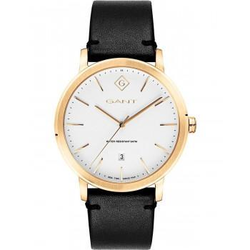 GANT Delaware - G122007,  Gold case with Black Leather Strap