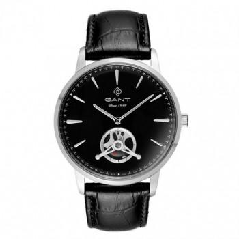 GANT Hempstead - G153001,  Silver case with Black Leather Strap