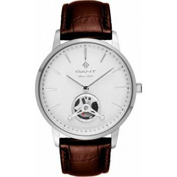 GANT Hempstead - G153002,  Silver case with Brown Leather Strap