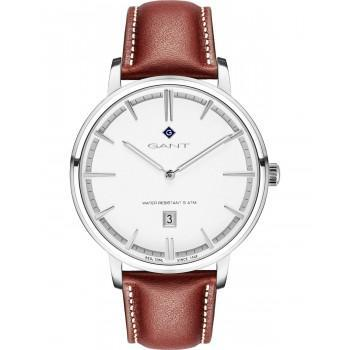 GANT Naples - G109001,  Silver case with Brown  Leather Strap