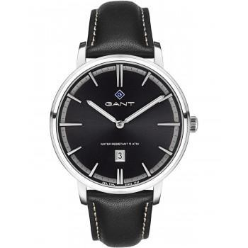 GANT Naples - G109002,  Silver case with Black Leather Strap