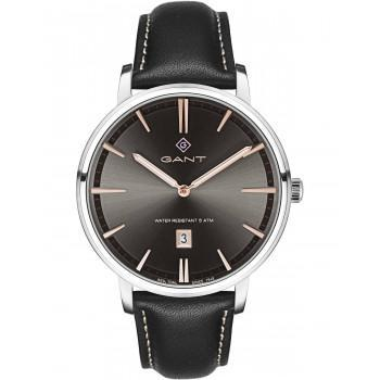 GANT Naples - G109003,  Silver case with Black Leather Strap