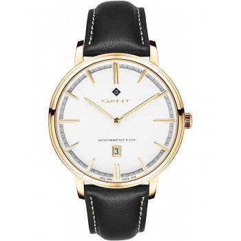 GANT Naples - G109007,  Gold case with Black Leather Strap