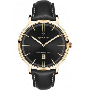 GANT Naples - G109008,  Gold case with Black Leather Strap