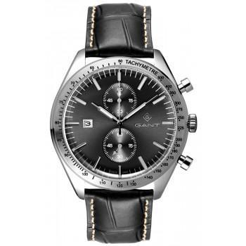 GANT Northampton Chronograph - G142002,  Silver case with Black Leather Strap
