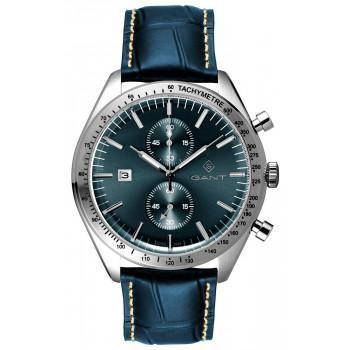 GANT Northampton Chronograph - G142003,  Silver case with Blue Leather Strap