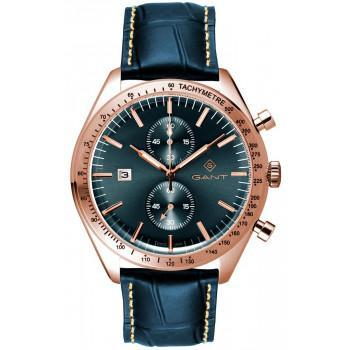 GANT Northampton Chronograph - G142004,  Rose Gold case with Blue Leather Strap