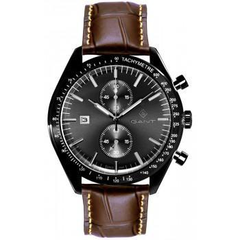 GANT Northampton Chronograph - G142005,  Black case with Brown Leather Strap