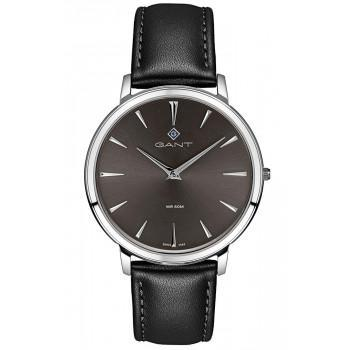 GANT Norwood - G133003,  Silver case with Black Leather Strap