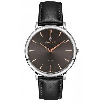 GANT Norwood - G133004,  Silver case with Black Leather Strap