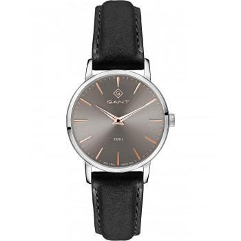 GANT Park Avenue 32 - G127001,  Silver case with Black Leather Strap