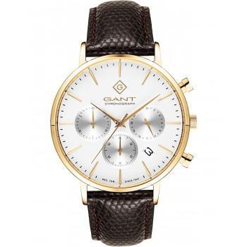 GANT Park Avenue  Chronograph Men's - G123005,  Gold case with Brown Leather Strap